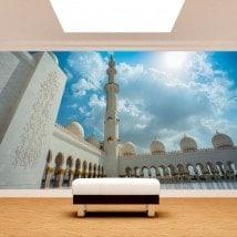 Moschea di foto parete murales Sheikh Zayed