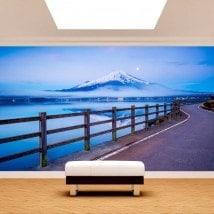 Strada di murales muro foto Monte Fuji