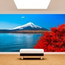 Lago Kawaguchi mt. Fuji Fotomurali