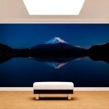 Fotomurali Lago Kawaguchi e Monte Fuji