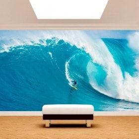 Fotomural surfare l'onda