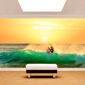 Fotomural surf al tramonto