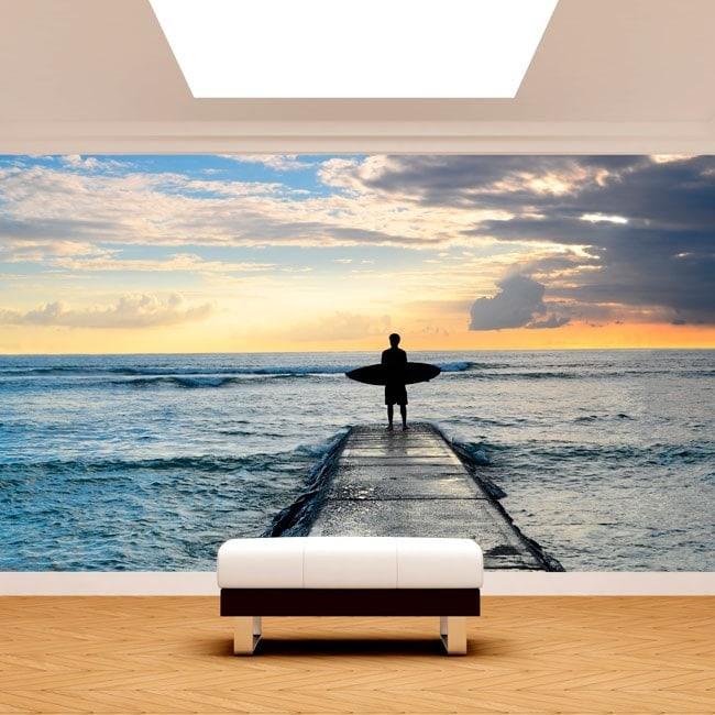 Fotomural Surf alla spiaggia