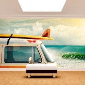 Fotomural Retro Surf