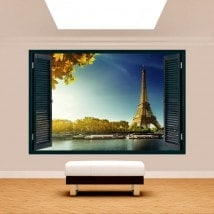 Finestra 3D Torre Eiffel Parigi