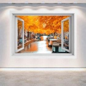 Windows 3D Amsterdam in autunno
