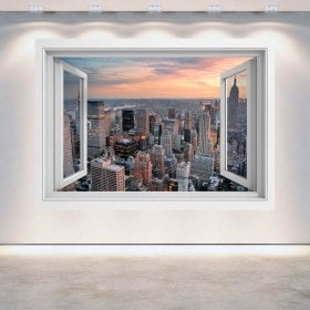 New York City finestra 3D