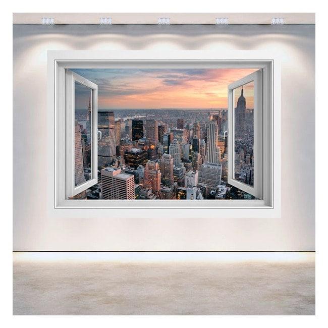 New York City finestra 3D Italian 5057