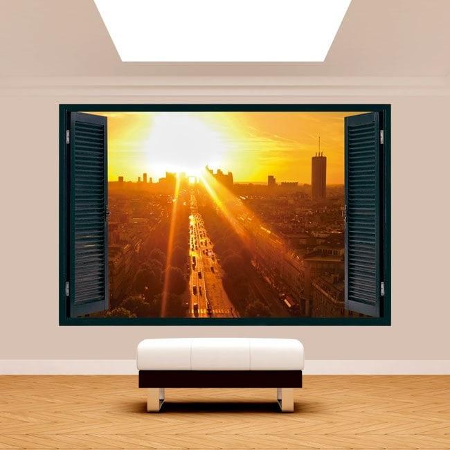 Windows 3D Parigi al tramonto