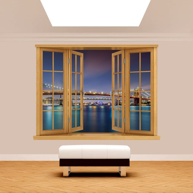 Ponte 3D Windows da Brooklyn New York