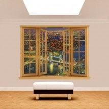 Notte di Windows 3D Londra