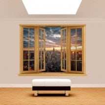 Tramonto di Manhattan 3D di Windows
