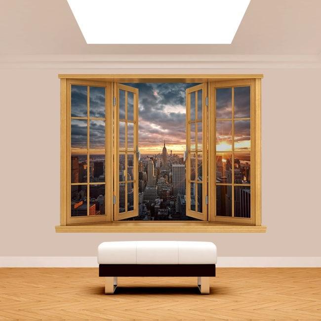 Tramonto di Manhattan 3D di Windows