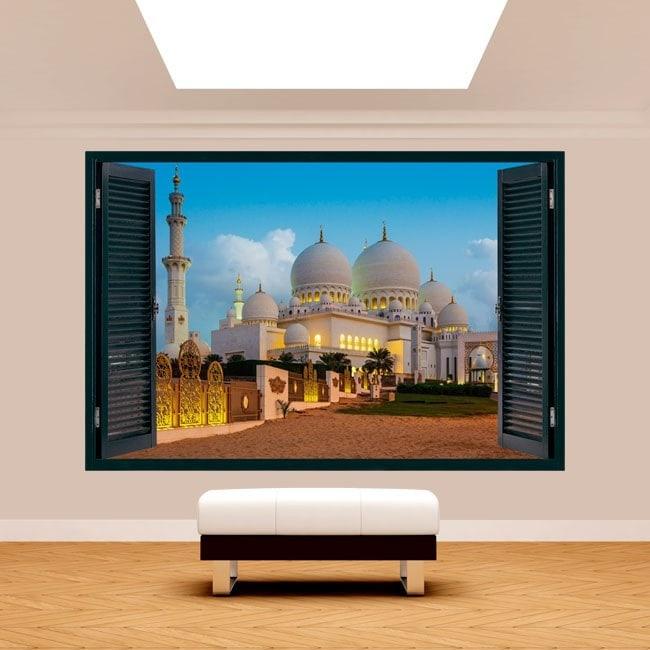 Moschea di vinile 3D Windows Sheikh Zayed