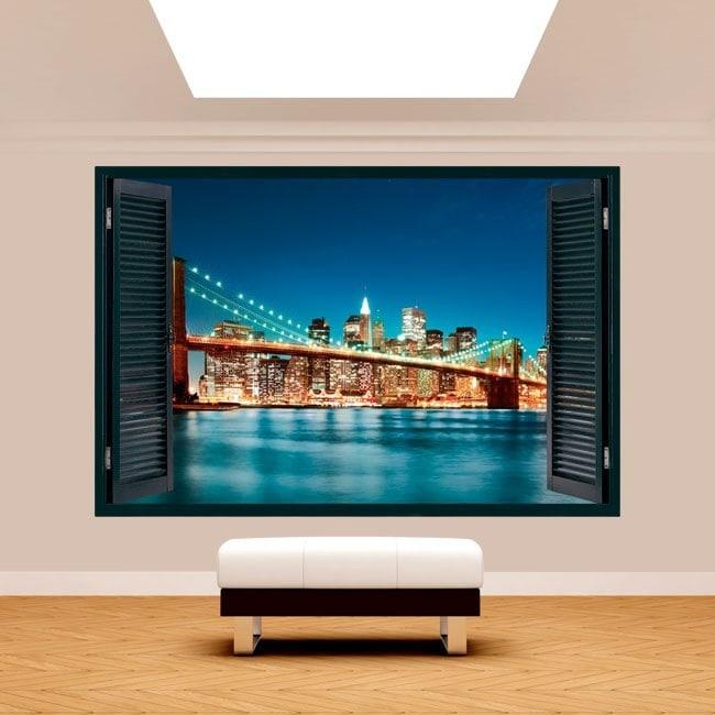 New York City finestra 3D Italian 5100