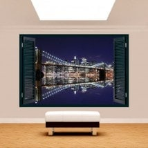 Windows 3D Manhattan Bridge Brooklyn