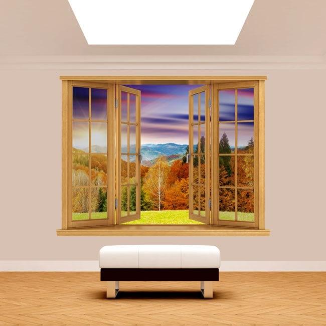 Montagne al tramonto 3D di Windows