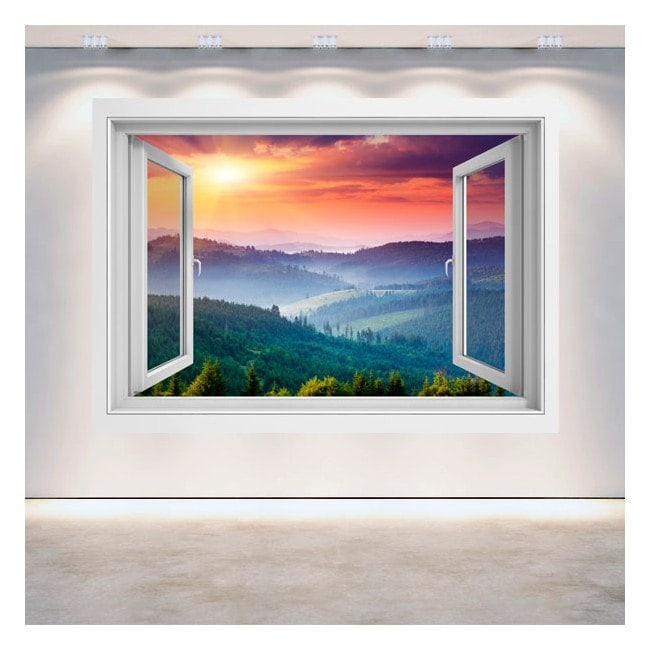 Montagne al tramonto pareti 3D di Windows