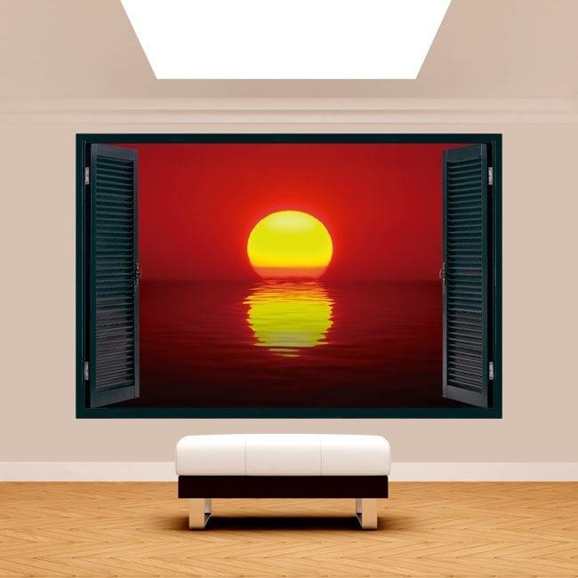 Windows 3D sole tramonto sul mare