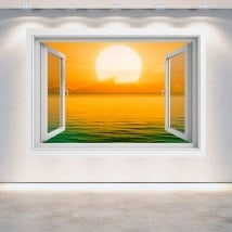 Implementazione Windows 3D del sole nel mare