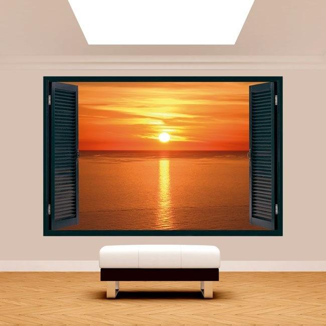 3dwindow tramonto sul mare