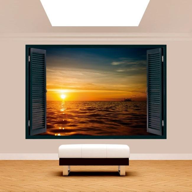 Mare tramonto 3D di Windows Italian 5125