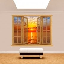 Mare di sole tramonto 3D di Windows