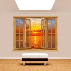Mare di sole tramonto 3D di Windows