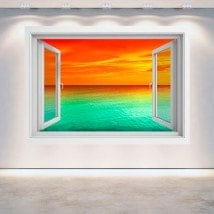 Mare tramonto 3D di Windows Italian 5134