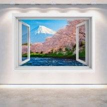 Windows 3D Monte Fuji alberi fiore di ciliegia