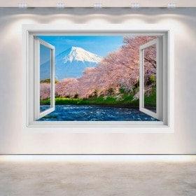 Fiore di alberi di ciliegio mt. Fuji 3D Windows