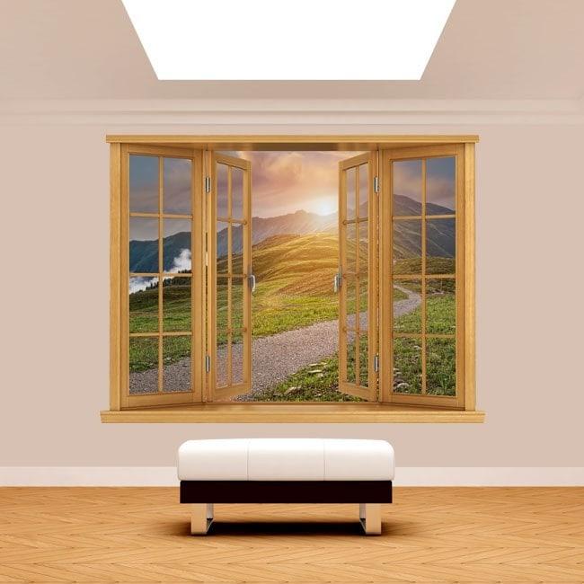 Tramonto sulle montagne 3D di Windows