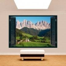 Montagne di Windows 3D Dolomiti Italia