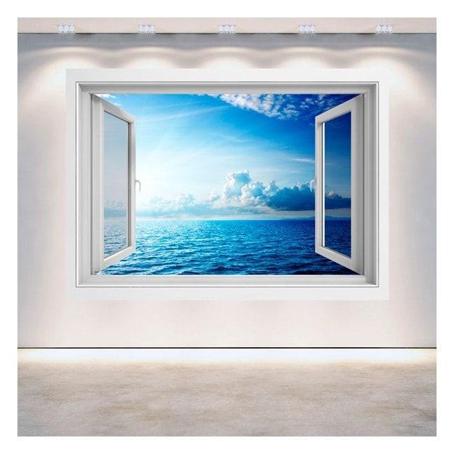 Tramonto 3D finestra sul mare