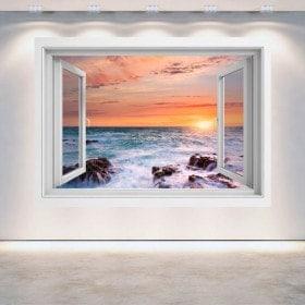 Tramonto 3D Windows sul mare