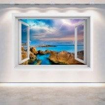 Raggi 3D Windows nel mare