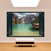 Windows 3D Lago Braies Italia