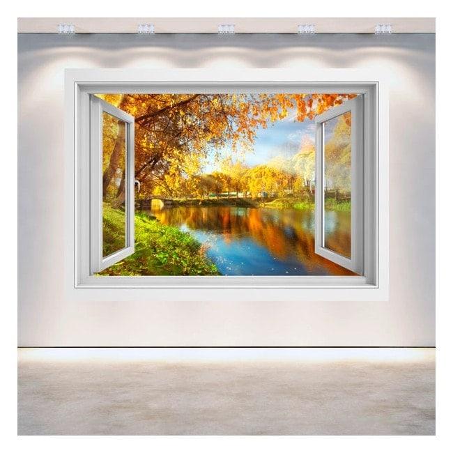 Windows 3D lago nel parco