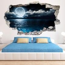 Vinile 3D luna e mare