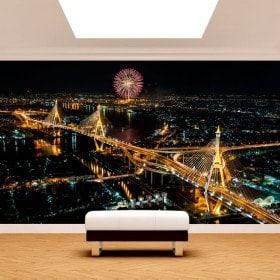 Città di foto parete murales Bangkok
