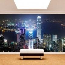 Fotomural Hong Kong città