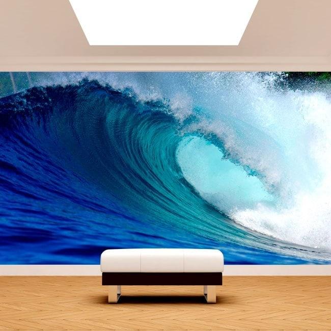 Murales fotografici delle onde del mare