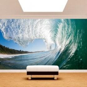 Foto grande muro murales onda