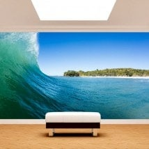 Fotomurali nell'onda del mare