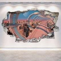 Vinile parete-rotta Sci-Fi 3D