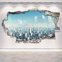 Vinili muro rotto Sci-Fi 3D Scifi