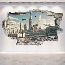Muro di fantascienza 3D vinile foro Scifi