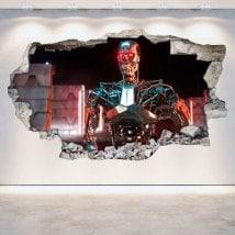 Parete in vinile rotto 3D Terminator Genesis