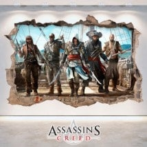 Creed di vinile 3D foro muro Assassin