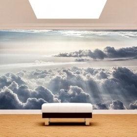 Fotomural nuvole e raggi di sole